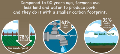 50 year Comparison Carbon Footprint