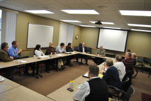 Representative Emmer meeting with MN pig farmers